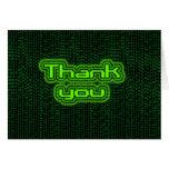 Thank you - Binary Greeting Card