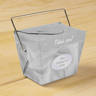 """""""Thank You"""" Birthday Gray Textured Fabric Look Favour Box"""