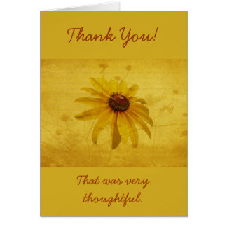 Thank You - Black-Eyed Susan Wildflower Greeting Card