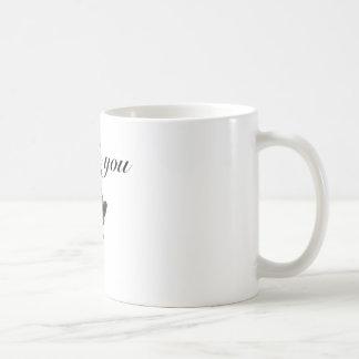 thank you black rose basic white mug