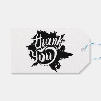 Thank You Black & White Paint Splat Gift Wedding