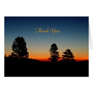 Thank You Blank Inside, Sierra Sunrise Card
