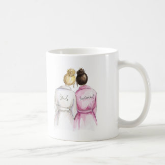 Thank You Blonde Bun Bride Dk Br Bun Bm Coffee Mug