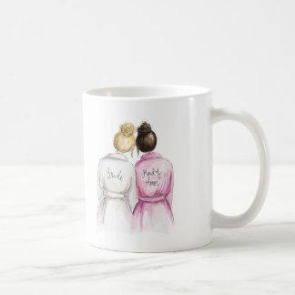 Thank You Blonde Bun Bride Dk Br Bun Maid Coffee Mug