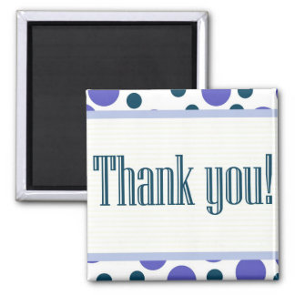 Thank You Blue and Purple Dots Fridge Magnets