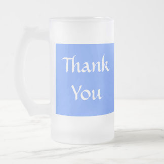 Thank You Blue and White Coffee Mug