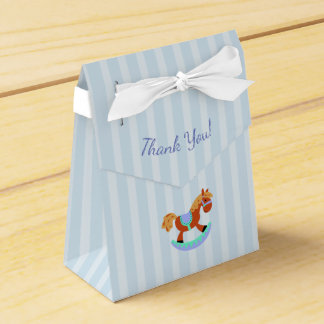 Thank You Blue Baby Shower Candy Favor Box