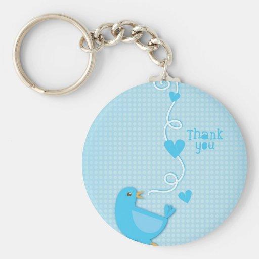Thank you Blue Bird Key Chain