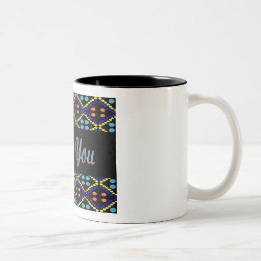 thank you blue black mugs