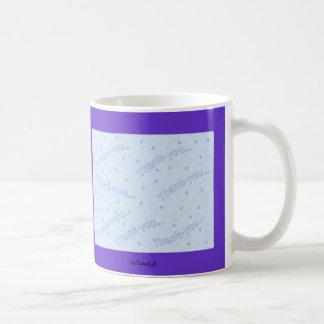 Thank-you blue design basic white mug
