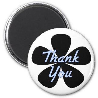 Thank You Blue Flower Fridge Magnet