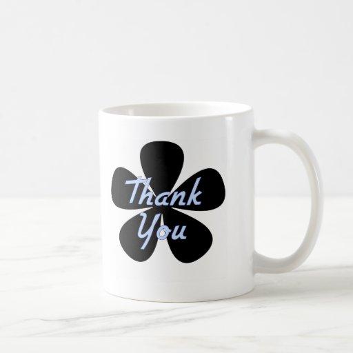 Thank You Blue Flower Mug