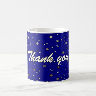 Thank You Blue Golden Stars Mug