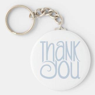 Thank You Blue Keychain