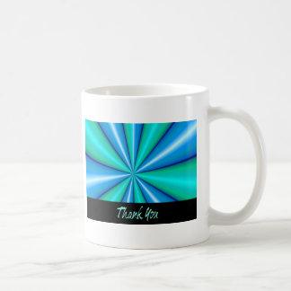 Thank You Blue Pipe Basic White Mug