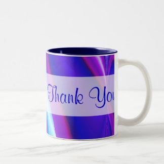 Thank You blue purple Two-Tone Mug