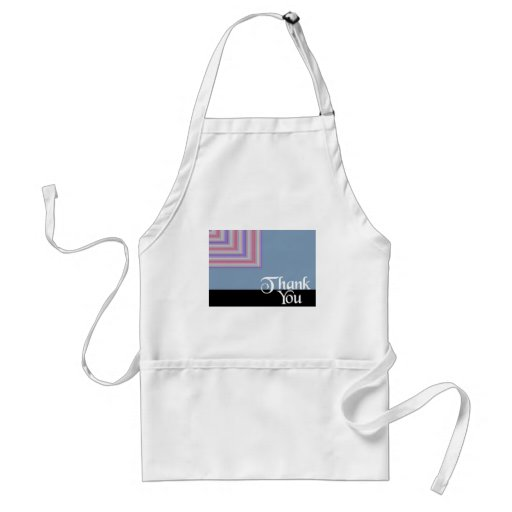 Thank You Blue Square Aprons