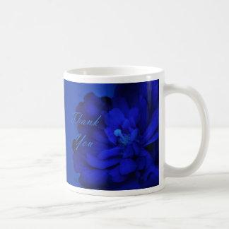 Thank You - Blue Surprise Basic White Mug