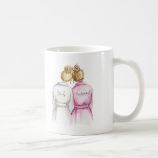 Thank You BM Blonde Bun Bride Dk Bl Bun Coffee Mug