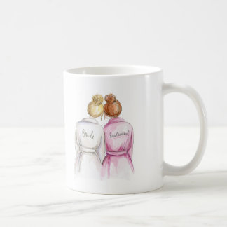 Thank You BM Blonde Bun Bride Red Bun Coffee Mug