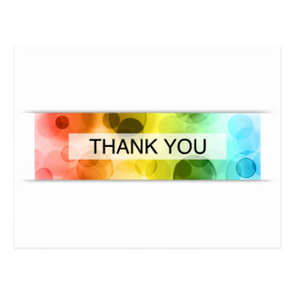 thank you (bokeh) postcard