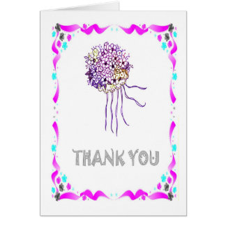Thank you - Bouquet Card