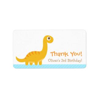 Thank You, Brachiosaurus dinosaur theme party Address Label