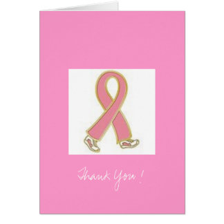 Thank You breast cancer Greeting Card