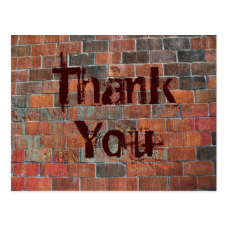 Thank You brick wall Postcard