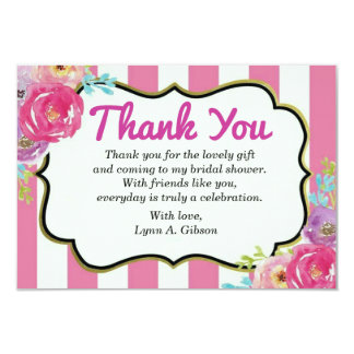 Thank You bridal Shower card