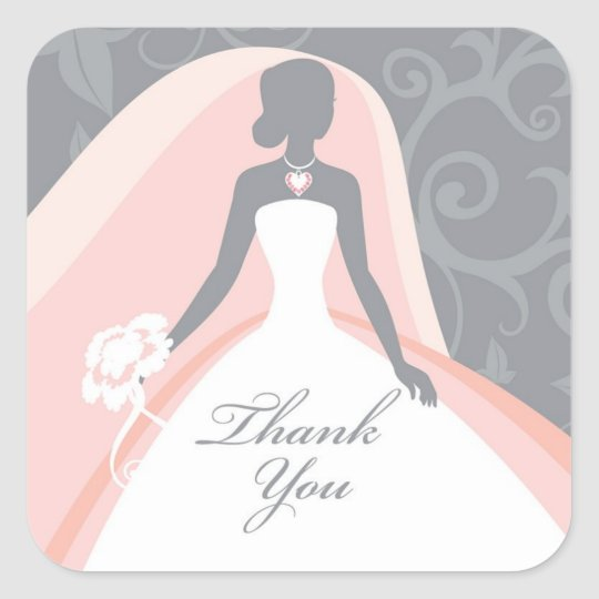 Thank You Bridal Shower Sticker