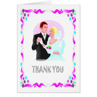 Thank you - Bride and groom Card