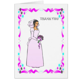 Thank you - Bride in pink Card