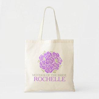 Thank you brides mother purple wedding favor bag