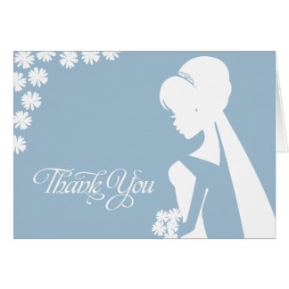 Thank You Bridesmaid Bridal Flowers Wedding Card