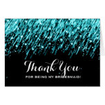Thank You Bridesmaid Falling Stars Turquoise
