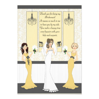 Thank you Bridesmaid Invitation