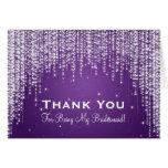 Thank You Bridesmaid Night Dazzle Purple Greeting Card