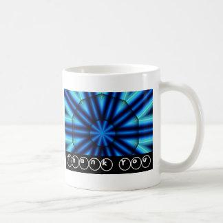 Thank You Bright Blue Kaleidoscope Basic White Mug