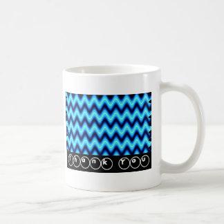 Thank You Bright Blue Wave Basic White Mug