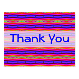 Thank You bright pink blue Post Cards