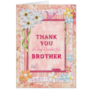 Wedding Thank You Gift For Brother : Thank You Brother Cards & Invitations Zazzle.co.uk