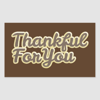 Thank You Brown And Gold Sticker / Seal