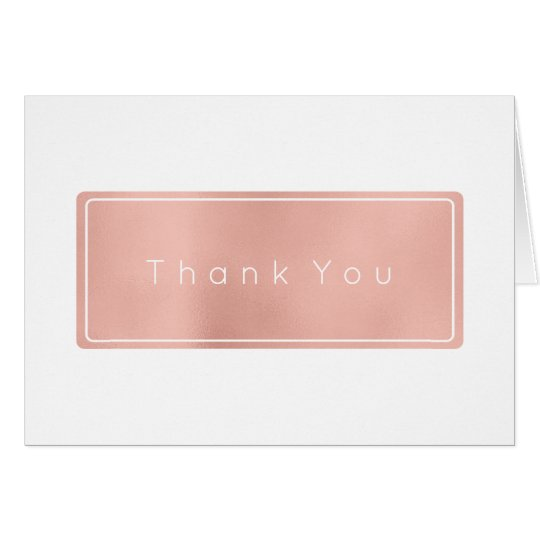 Thank You Business Pink Rose Gold White Minimal