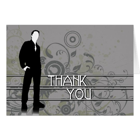 thank you : business silhouette card