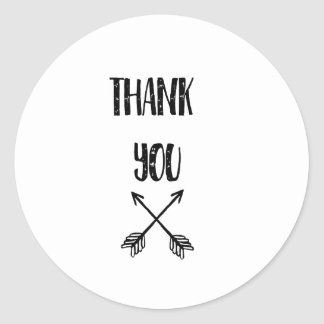 Thank you, Business, Wedding Classic Round Sticker