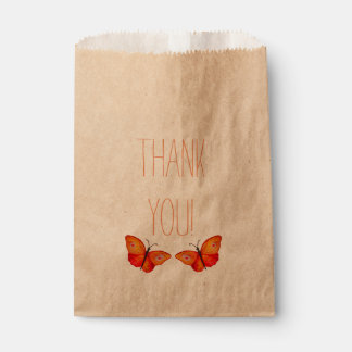 Thank you Buteerflies drawing Favor Bag