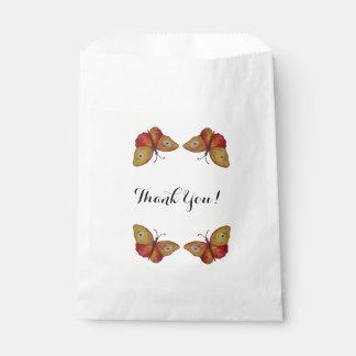 Thank you butterflies art  Favor Bag Favour Bags