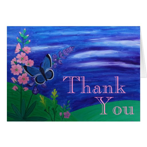 Thank You Butterfly Greeting Card
