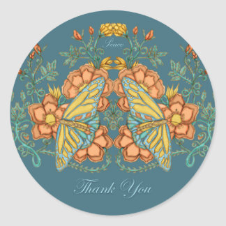 Thank you Butterfly Sticker